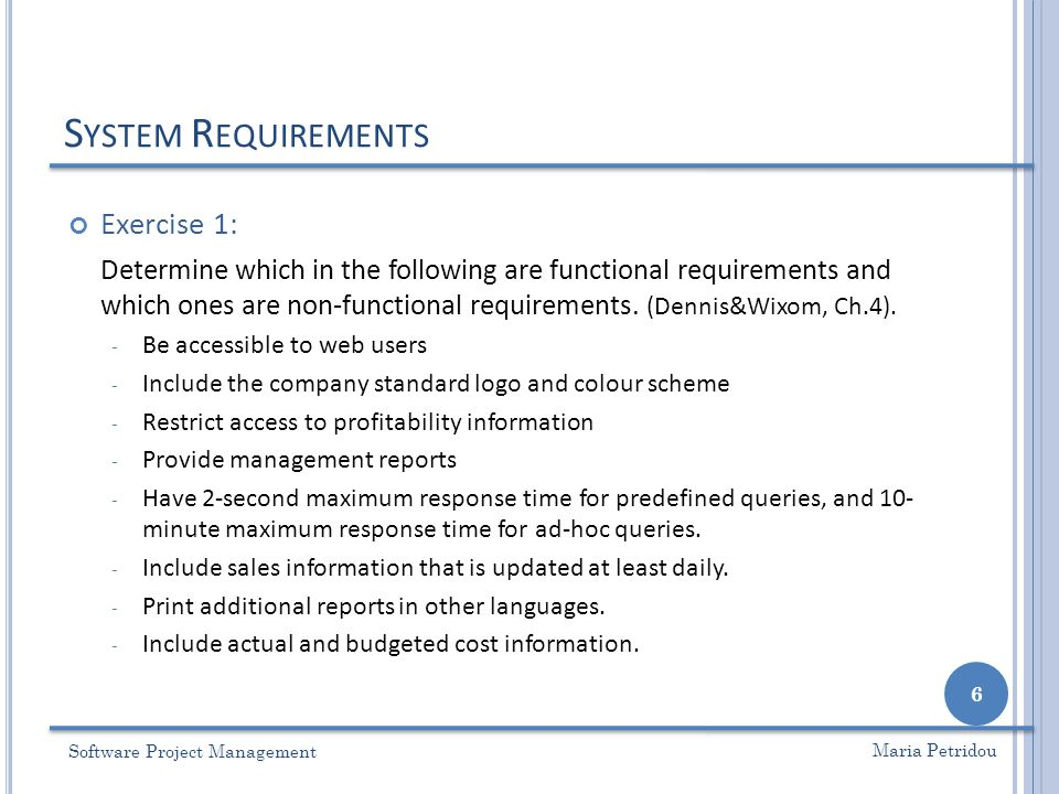 Lecture 6 – Requirement Analysis - ppt video online download