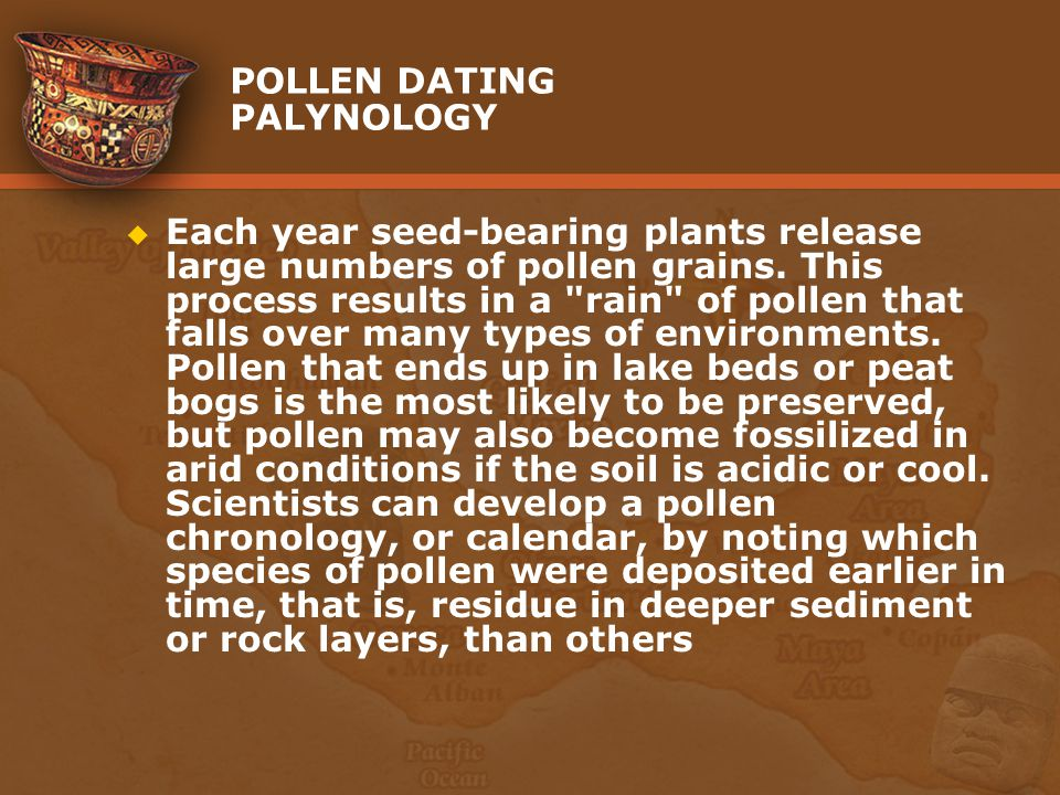 POLLEN DATING PALYNOLOGY