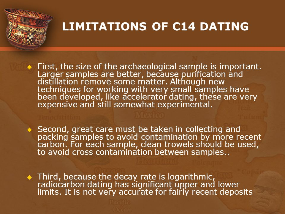 LIMITATIONS OF C14 DATING