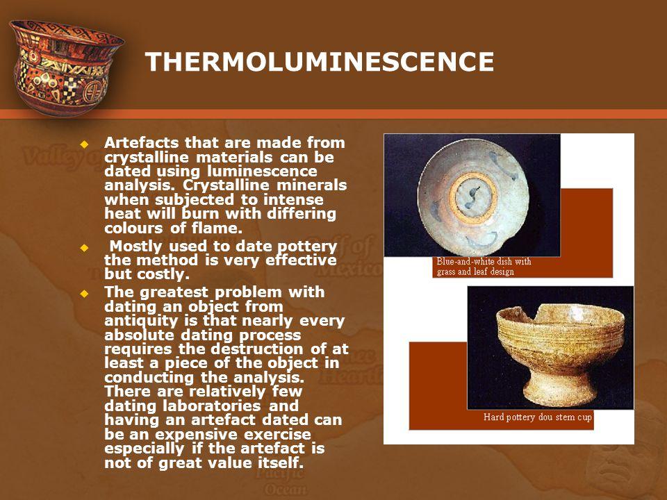 Thermoluminescence dating pottery styles
