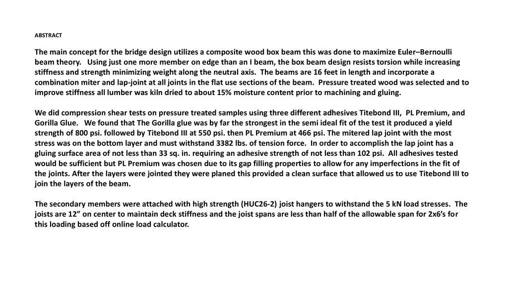 National Timber Bridge Design Competition Ppt Download
