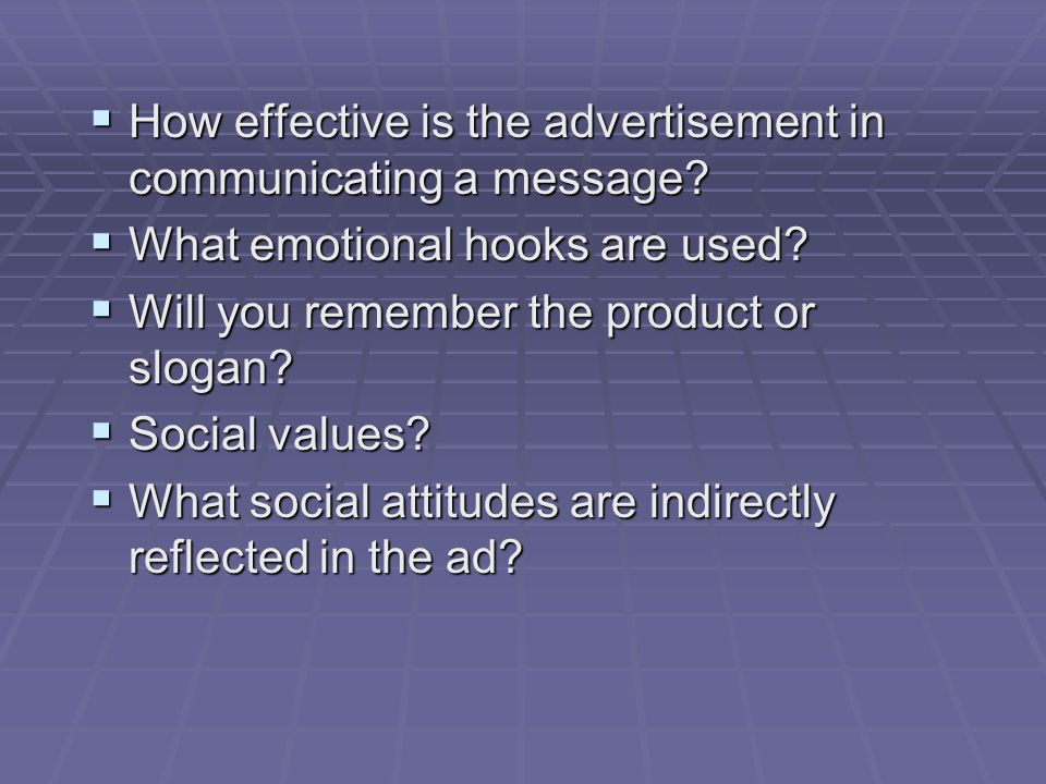 How effective is the advertisement in communicating a message