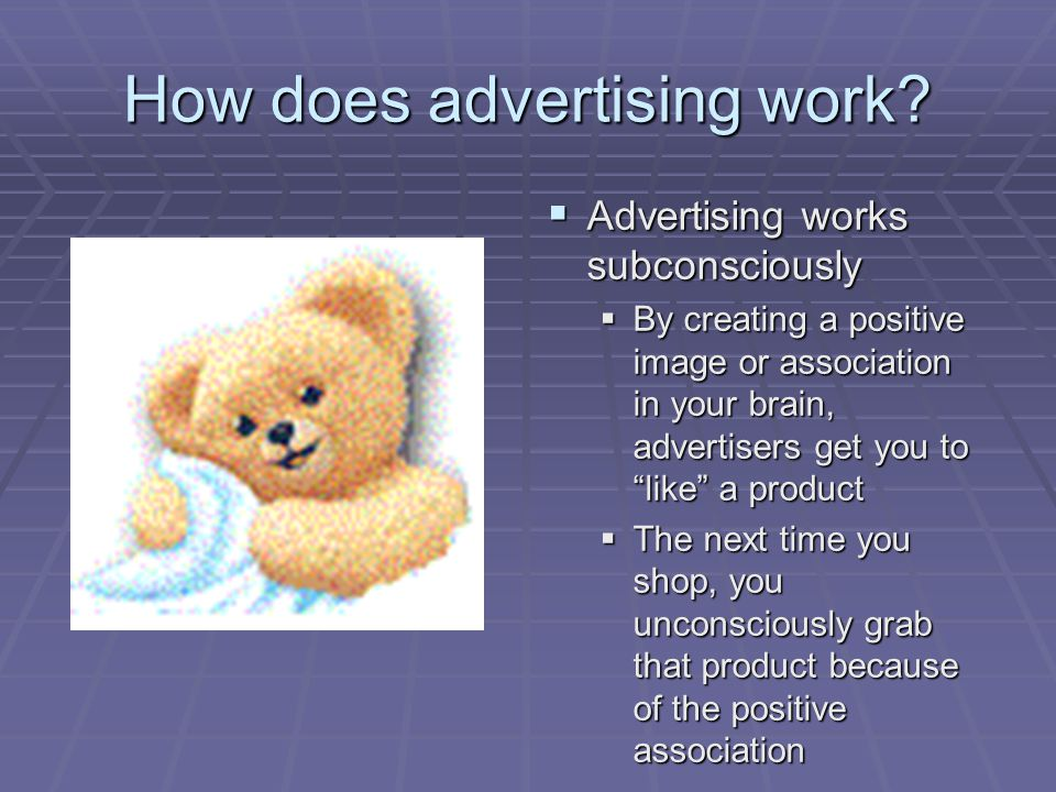 How does advertising work