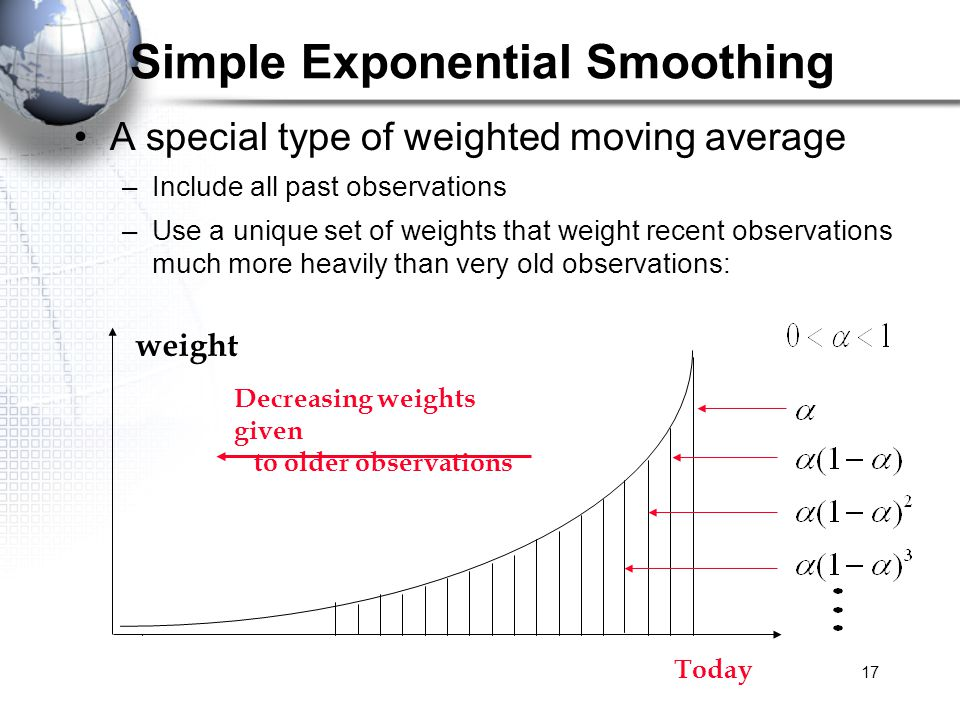 linear regression and simple exponential smoothing (ses) forecasting Forecasting in r can be done with simple exponential smoothing method and using forecast package which is available in base r using simple exponential smoothing method, we can use holtwinters()  in holtwinters() function we have to set beta=false and gamma=false.