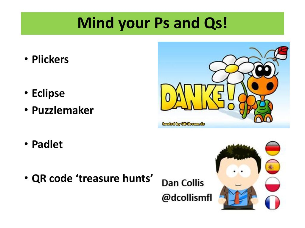 Mind your Ps and Qs! - puzzles and quizzes for the MFL classroom
