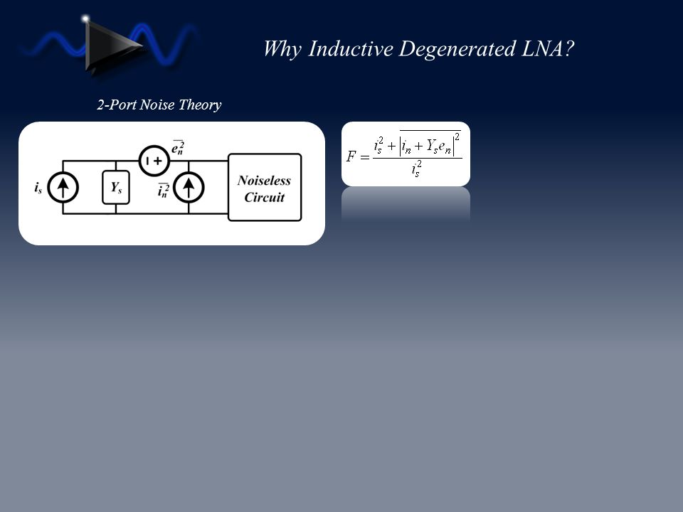Why Inductive Degenerated LNA