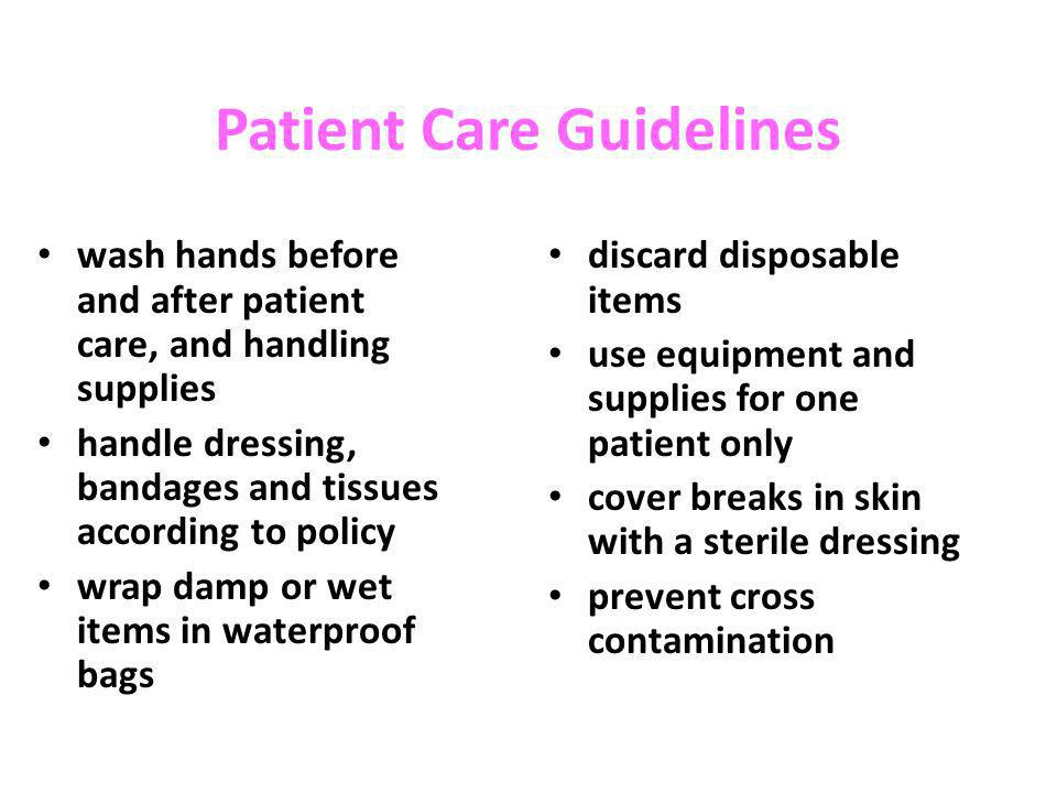 Patient Care Guidelines