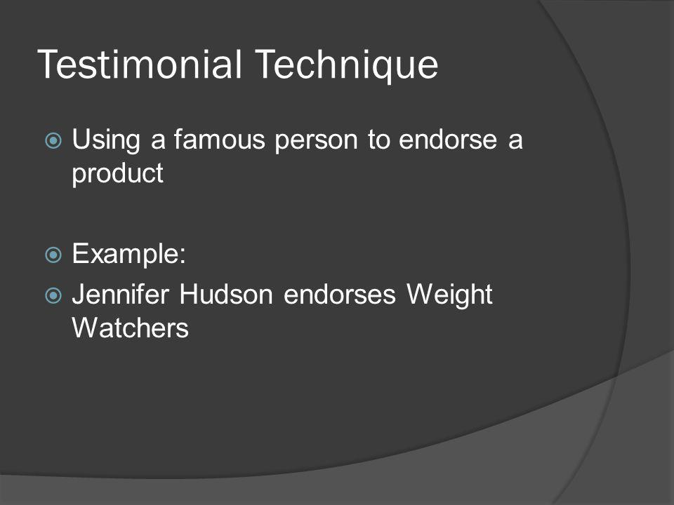 Testimonial Technique