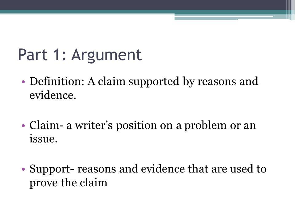 define persuasive argument
