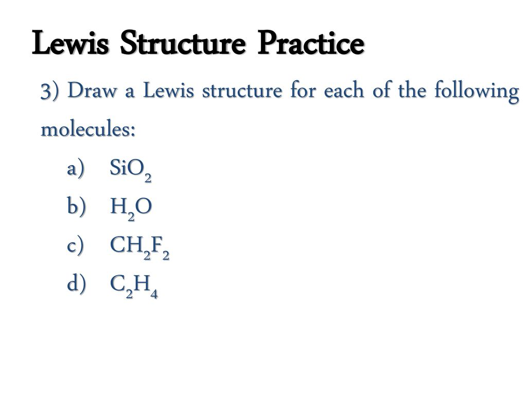 Covalent Bonding Lewis Structures Ppt Download