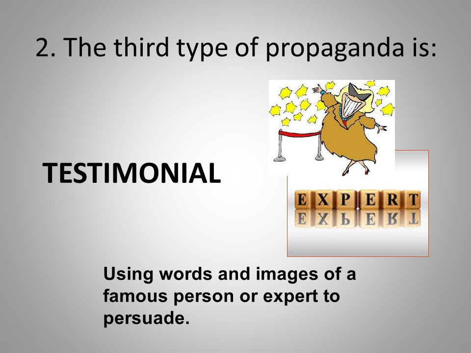 2. The third type of propaganda is: