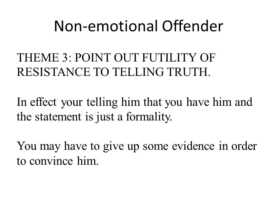 Non-emotional Offender