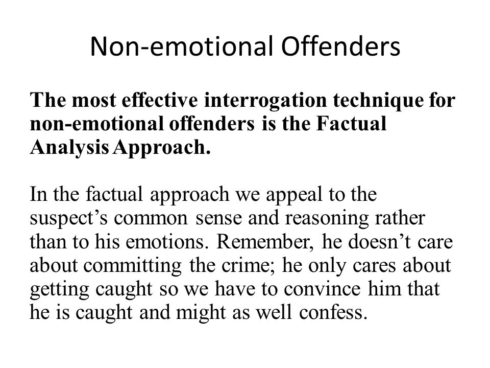 Non-emotional Offenders