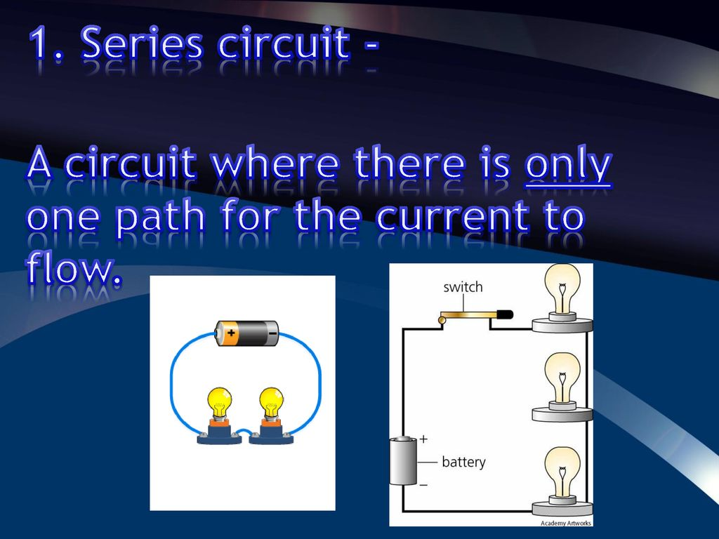 Electrical Energy Ppt Download Circuit Is Path That Allows Electricity To Flow Through Series A Where There Only One For The Current