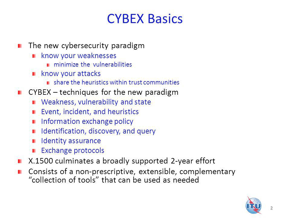 CYBEX Basics The new cybersecurity paradigm