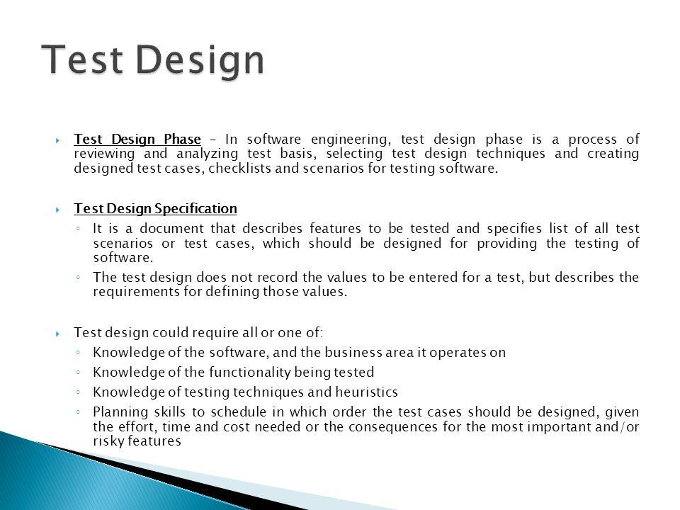 Test Design Overview Ppt Video Online Download