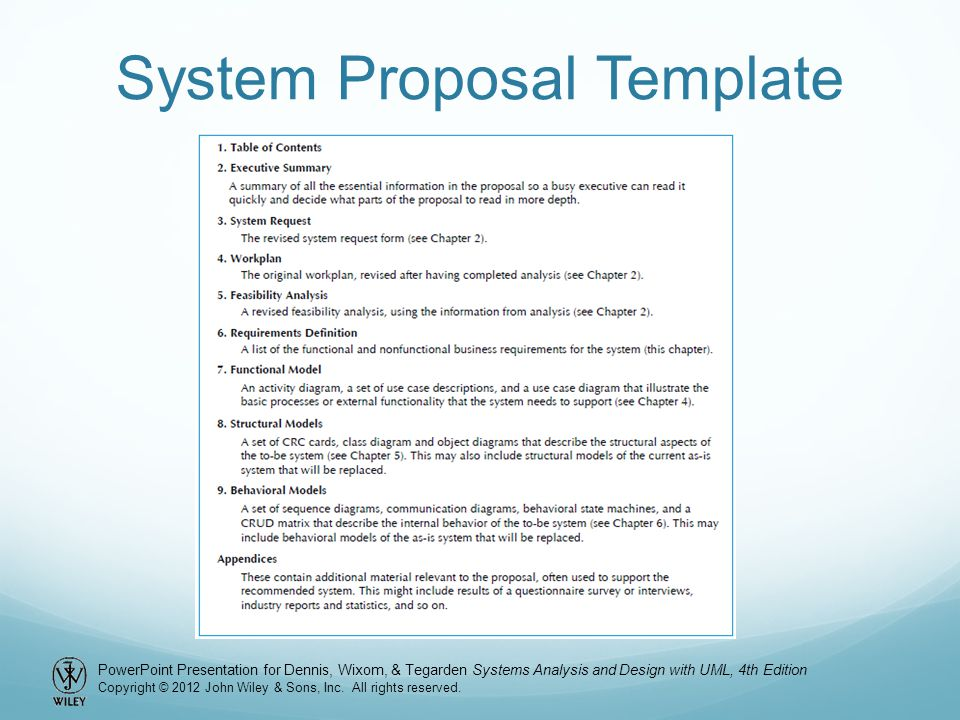 system analysis and design project proposal example