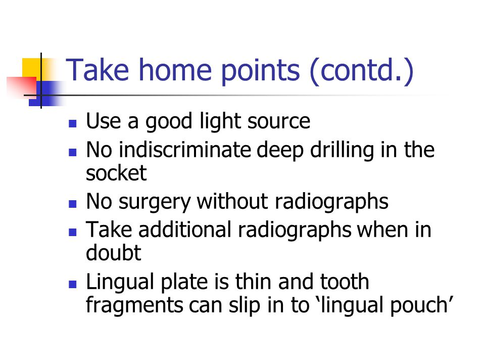 Take home points (contd.)