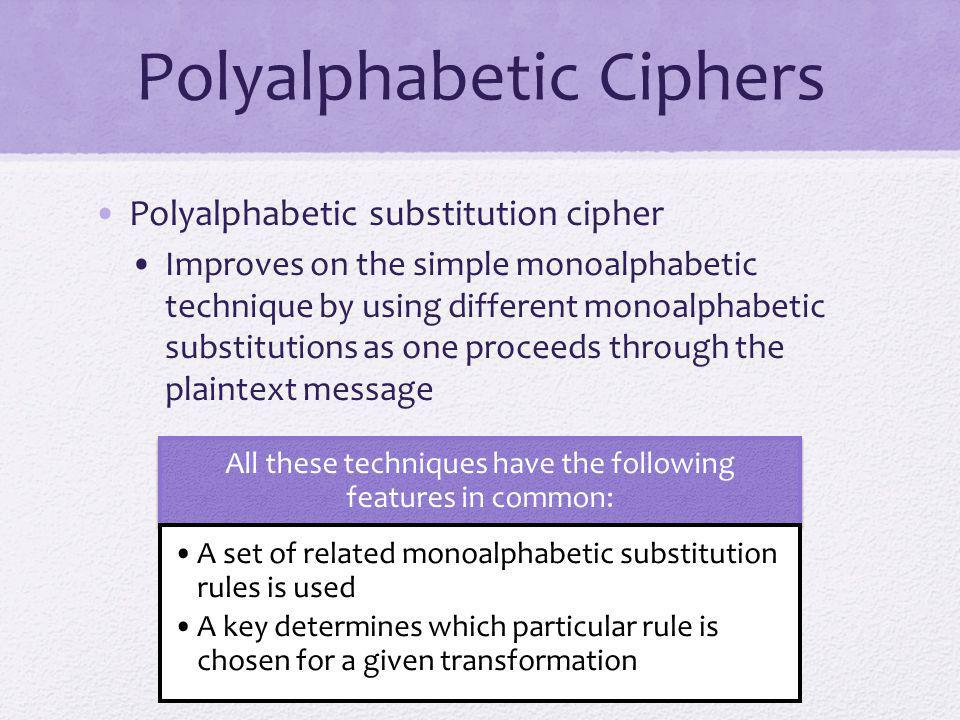 Polyalphabetic Ciphers