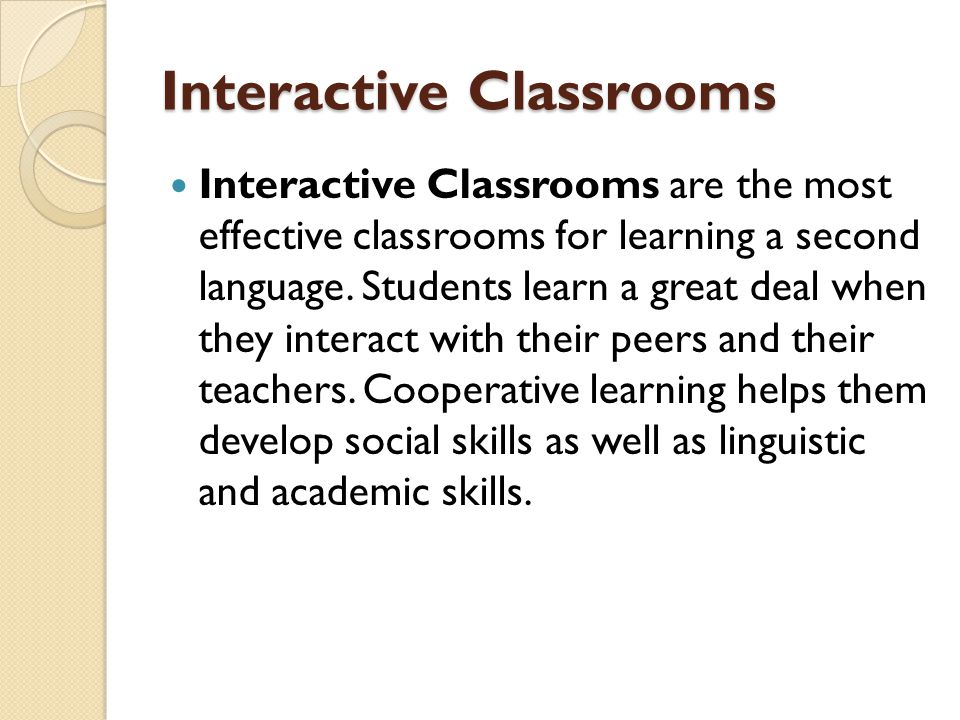 Interactive Classrooms