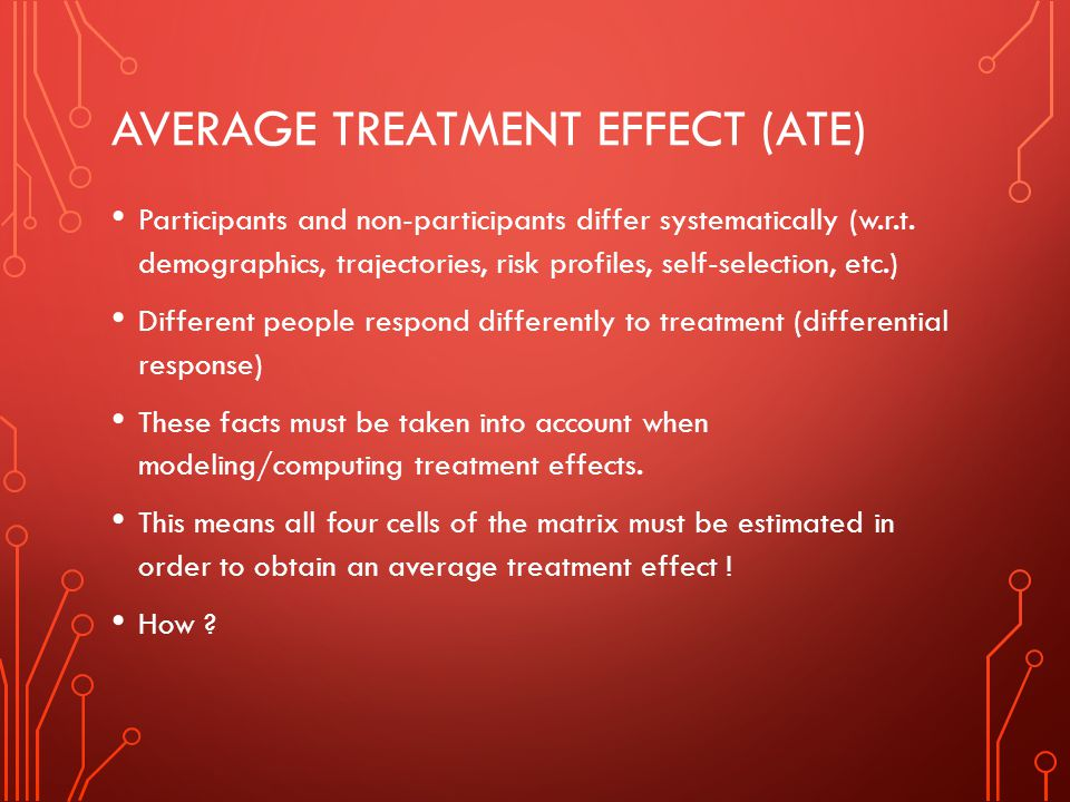 Average Treatment effect (ATE)