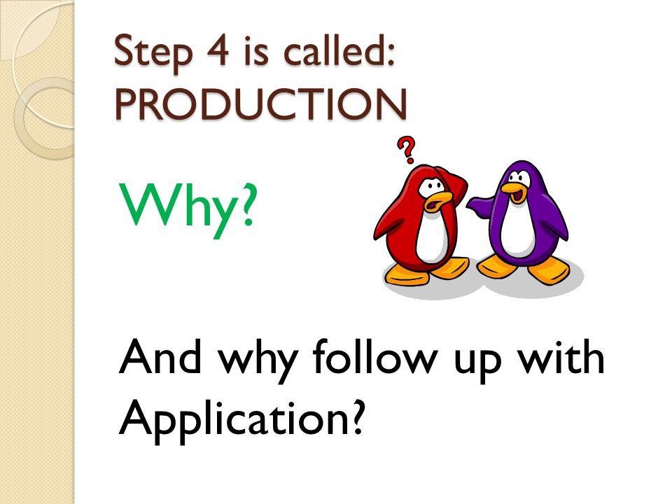 Step 4 is called: PRODUCTION