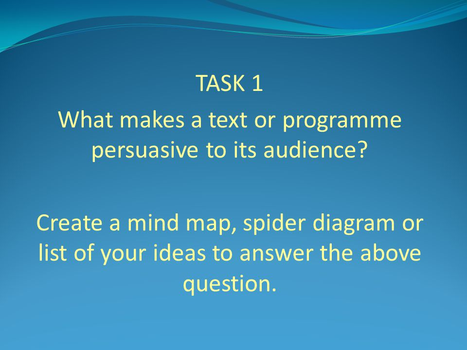 What makes a text or programme persuasive to its audience