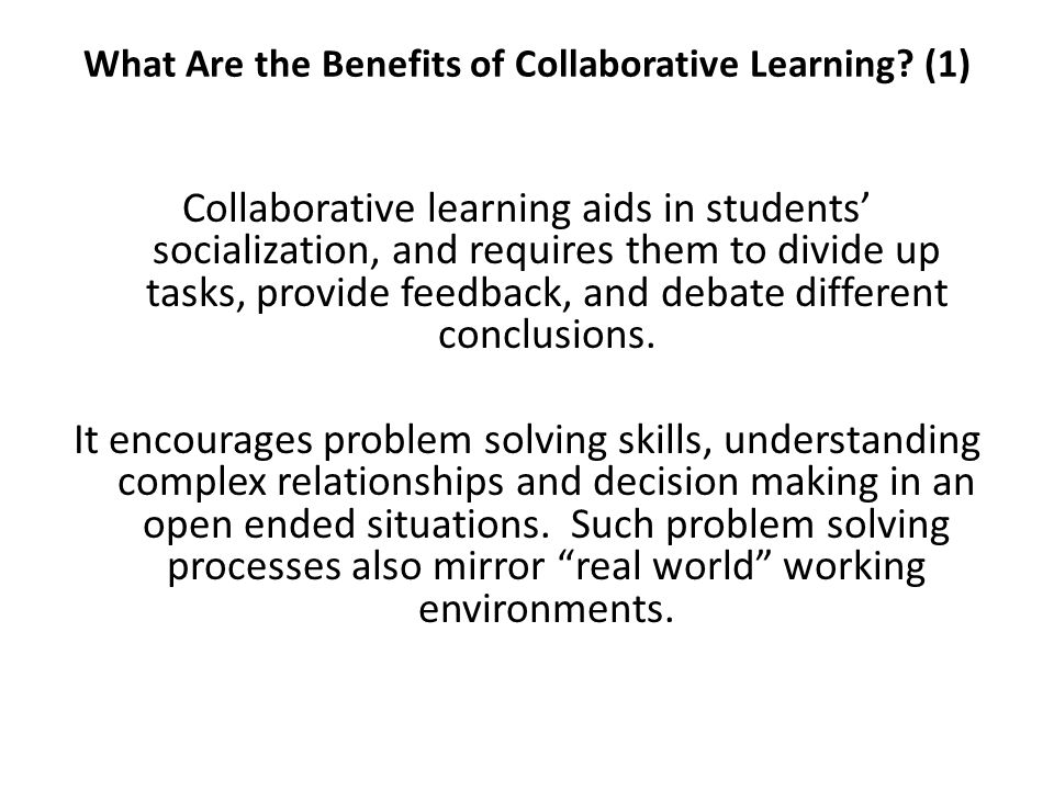 What Are the Benefits of Collaborative Learning (1)
