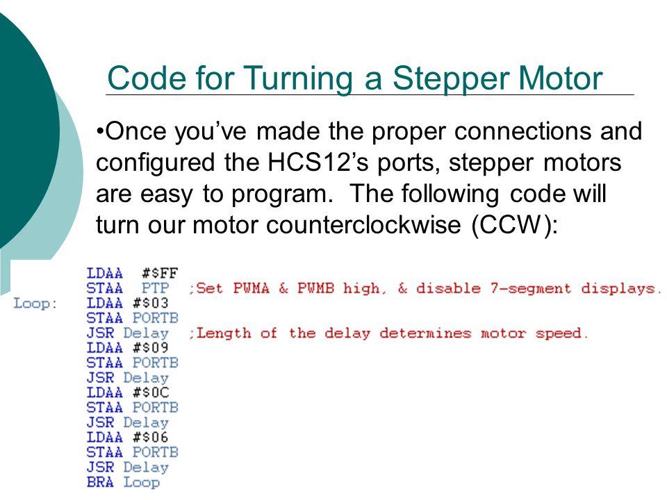 EET 2261 Unit 13 Stepper Motors and Servos - ppt video