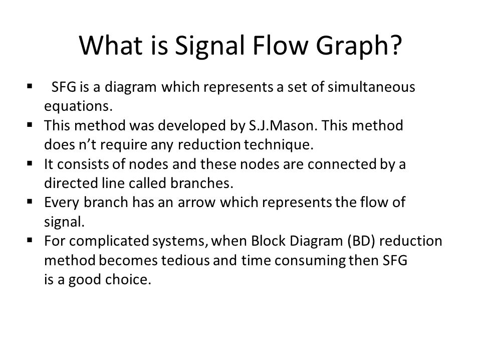 What is Signal Flow Graph