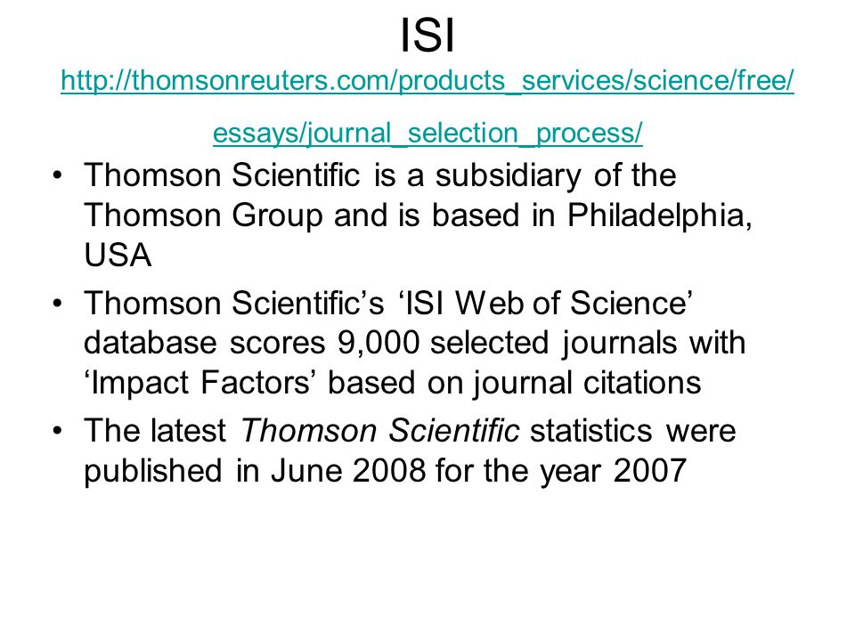 ISI http://thomsonreuters