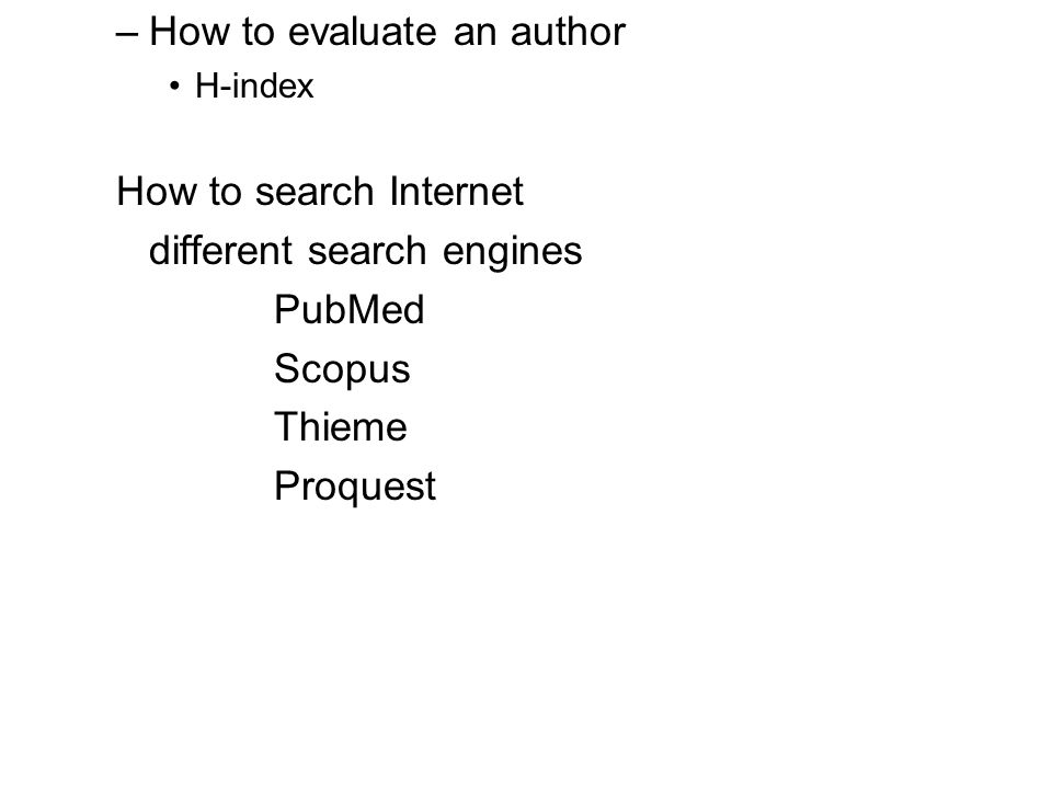 How to evaluate an author