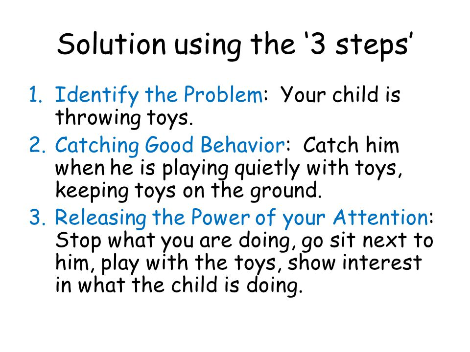 Solution using the '3 steps'