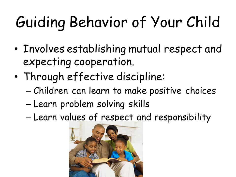 Guiding Behavior of Your Child