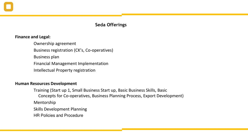 seda business plan