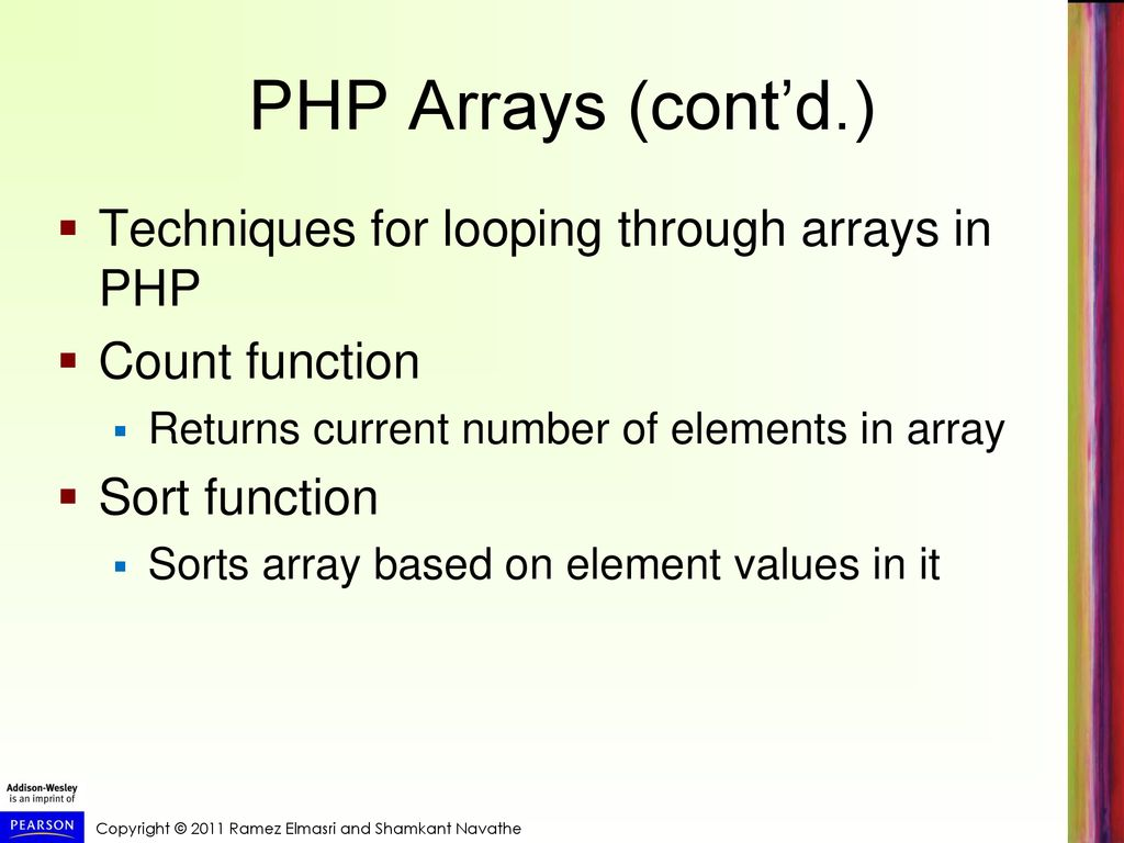 php count elements in array