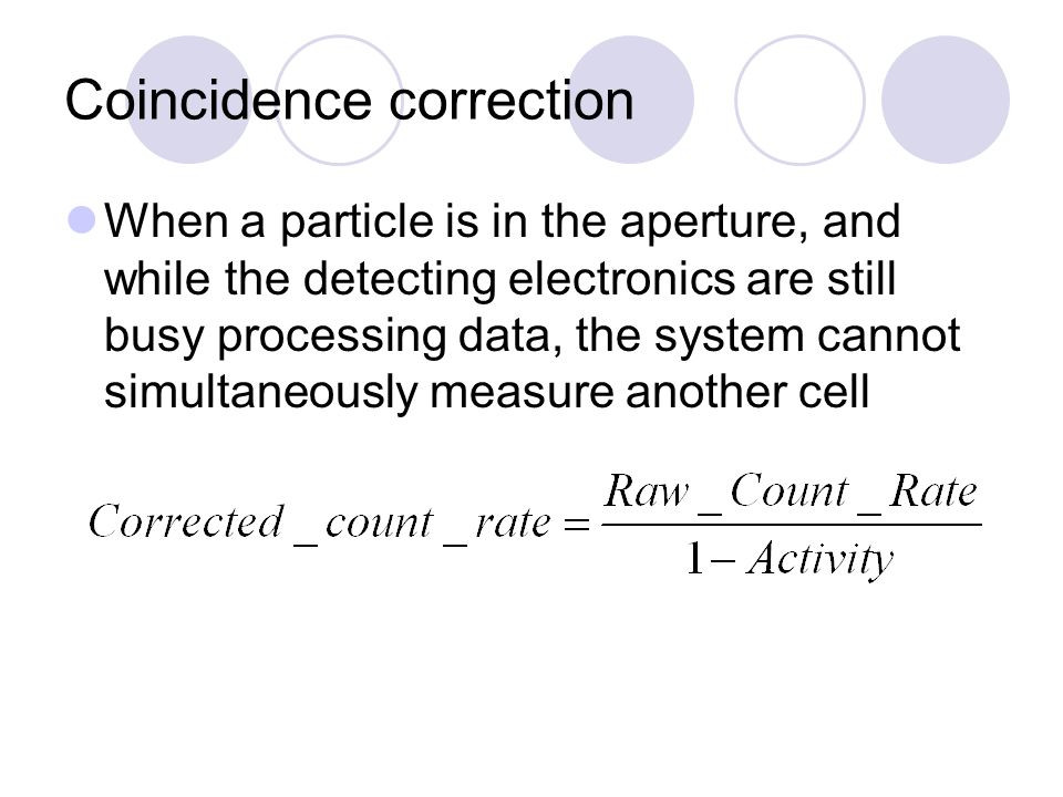 Coincidence correction