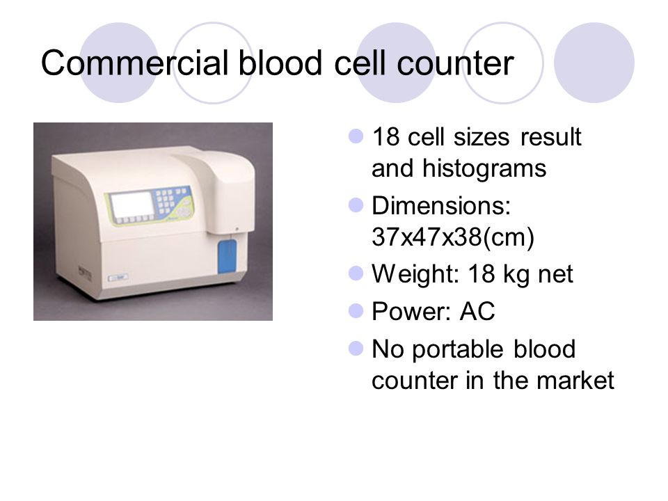 Commercial blood cell counter