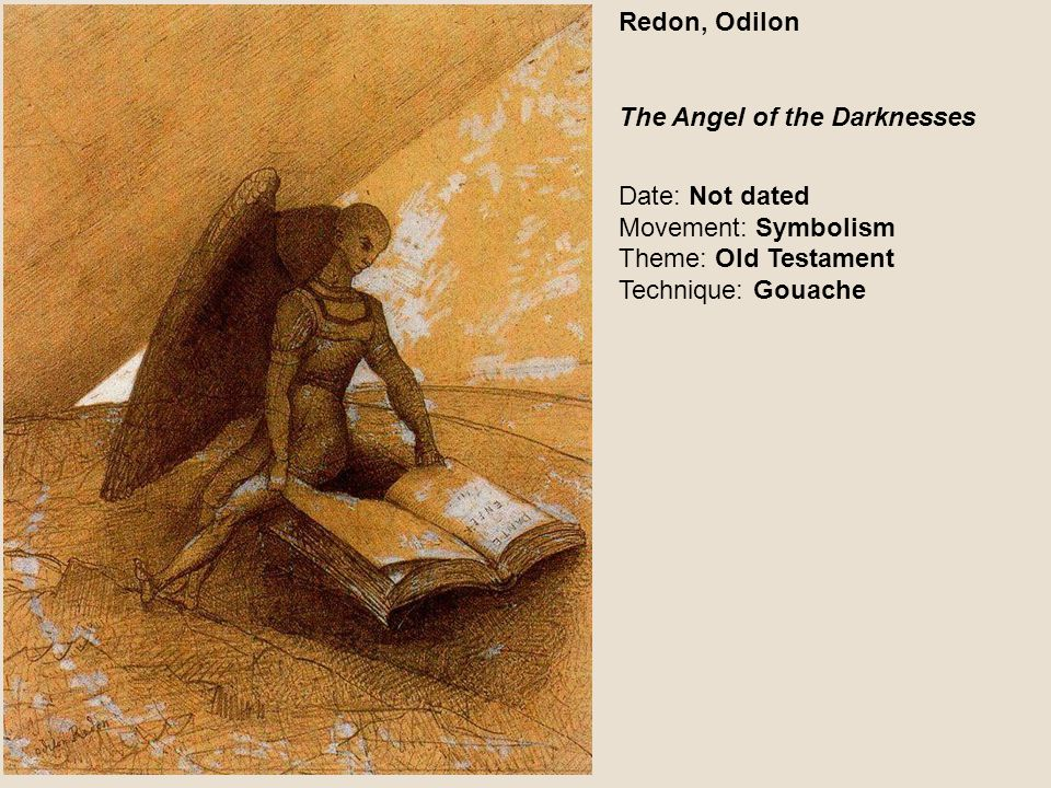 Redon, Odilon The Angel of the Darknesses.