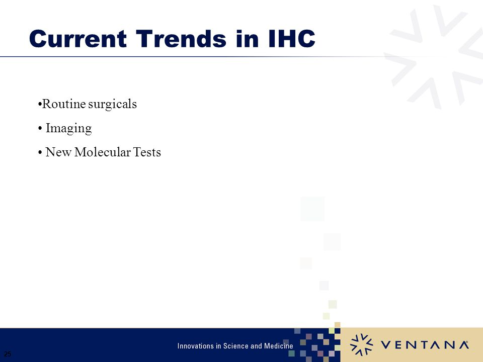 Current Trends in IHC Routine surgicals Imaging New Molecular Tests
