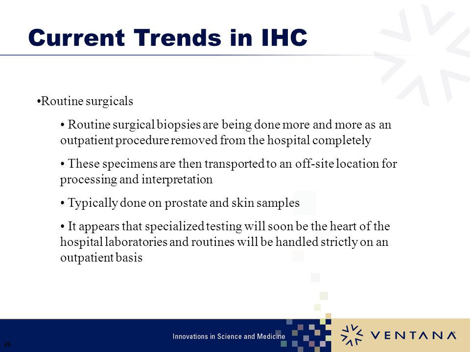 Current Trends in IHC Routine surgicals