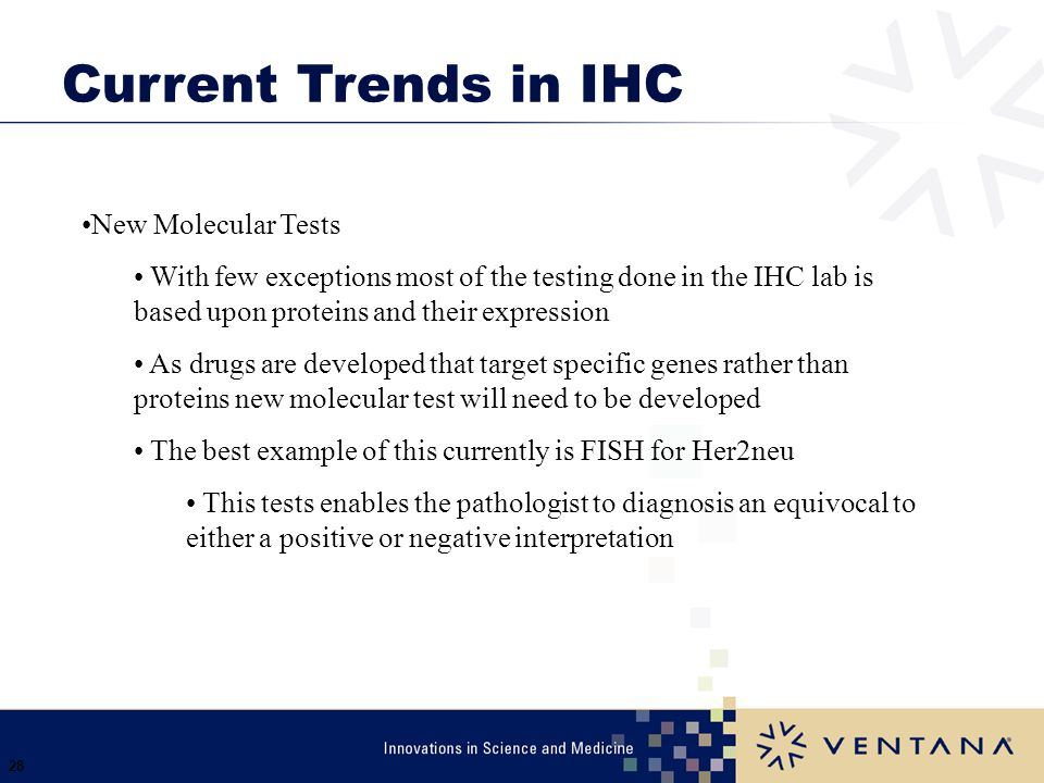 Current Trends in IHC New Molecular Tests
