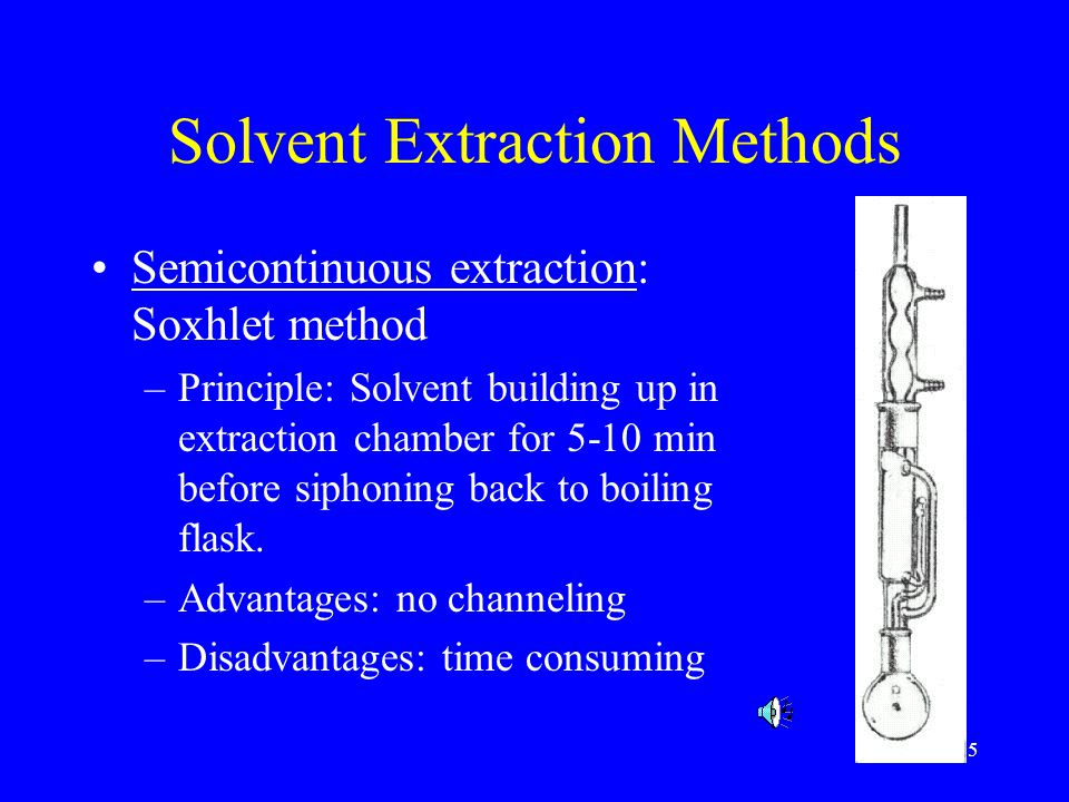 Solvent Extraction Methods