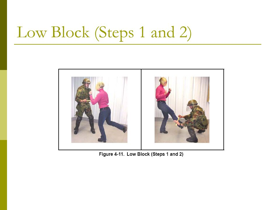 Low Block (Steps 1 and 2)