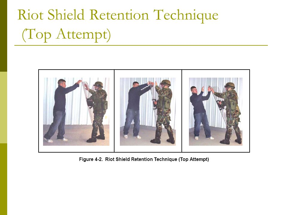 Riot Shield Retention Technique (Top Attempt)