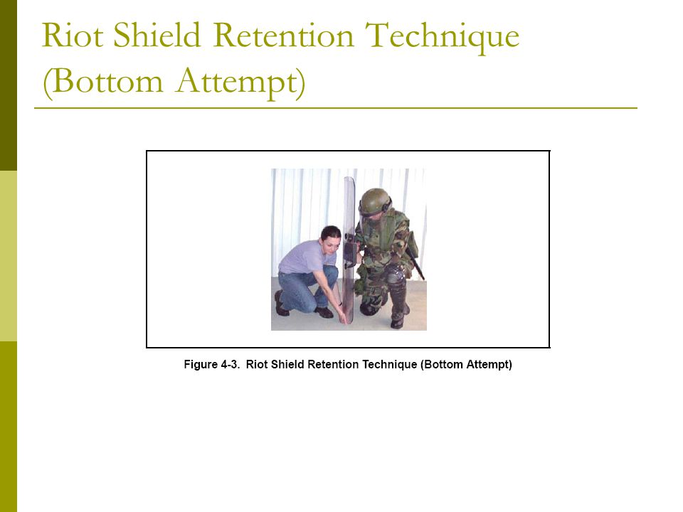 Riot Shield Retention Technique (Bottom Attempt)