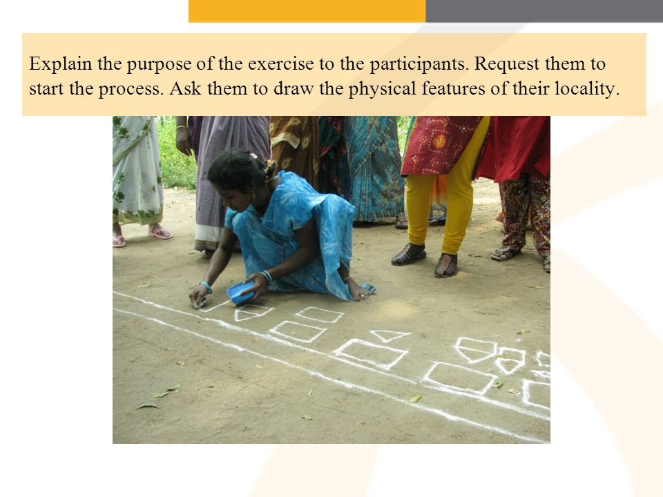 Explain the purpose of the exercise to the participants