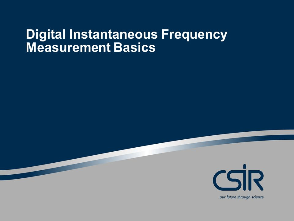 Digital Instantaneous Frequency Measurement Basics