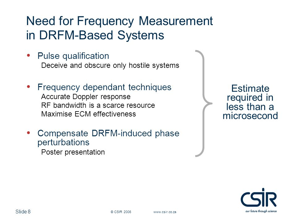 Need for Frequency Measurement in DRFM-Based Systems