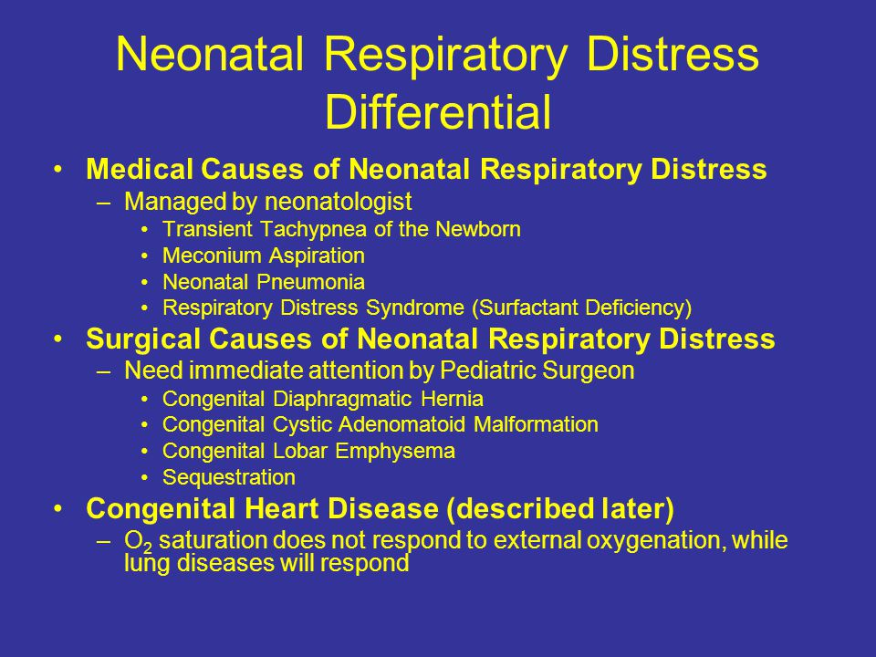 Neonatal Respiratory Distress Differential